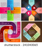 colorful modern cycle text box... | Shutterstock .eps vector #241043065