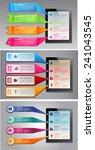 business technology bubble... | Shutterstock .eps vector #241043545