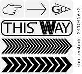 arrow sign icon set....