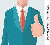 business man give thumb up sign.... | Shutterstock .eps vector #241050502