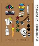 old school vector.decorate... | Shutterstock .eps vector #241054522