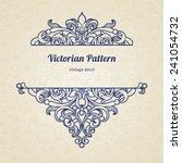 vector floral vignette in... | Shutterstock .eps vector #241054732