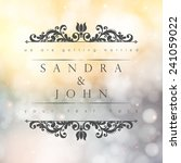 wedding card or invitation with ... | Shutterstock .eps vector #241059022