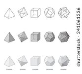 platonic solids  vector... | Shutterstock .eps vector #241061236