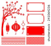 chinese happy new year red... | Shutterstock .eps vector #241064236