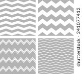 Tile vector chevron pattern set with white and grey zig zag background  | Shutterstock vector #241077412
