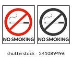 no smoking 2 | Shutterstock .eps vector #241089496