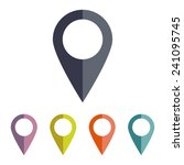 map pointer   vector icon  flat ... | Shutterstock .eps vector #241095745