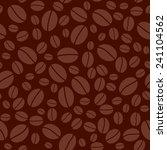 dark brown seamless pattern... | Shutterstock . vector #241104562