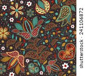 floral seamless pattern in... | Shutterstock .eps vector #241106872
