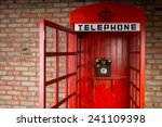 Close Up Of Red Telephone Boot...