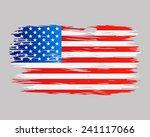 flag brush usa painted brush...