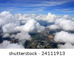 Aerial View Of Cloudscape Over...