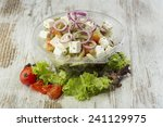 fresh prepared salad in a bowl... | Shutterstock . vector #241129975