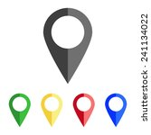 map pointer   vector icon  flat ... | Shutterstock .eps vector #241134022