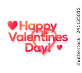 happy valentines day vector... | Shutterstock .eps vector #241135012