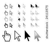 cursors  arrows in vector | Shutterstock .eps vector #24113575