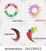 set of vector logo design...