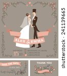 retro wedding invitation with... | Shutterstock .eps vector #241139665