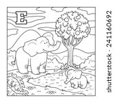 coloring book  elephant  ... | Shutterstock .eps vector #241160692