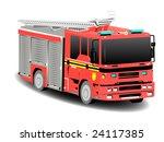 Red Firetruck Fire Engine Over...
