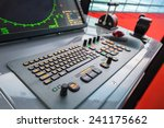 Modern Ship Control Panel With...