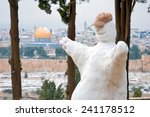 snowman pas mount of olives | Shutterstock . vector #241178512