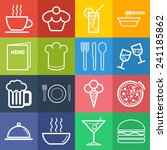 set of simple icons for bar ...   Shutterstock .eps vector #241185862