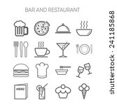 set of simple icons for bar ... | Shutterstock .eps vector #241185868