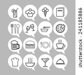 set of simple icons for bar ... | Shutterstock .eps vector #241185886