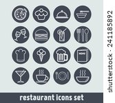 set of simple icons for bar ... | Shutterstock .eps vector #241185892