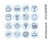 set of simple icons for bar ... | Shutterstock .eps vector #241185898