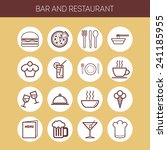 set of simple icons for bar ... | Shutterstock .eps vector #241185955