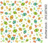 easter pattern seamless. eggs... | Shutterstock .eps vector #241187602