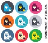 medical heart pills bottle sign ... | Shutterstock .eps vector #241188526