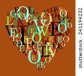 vector love heart valentine's... | Shutterstock .eps vector #241194232