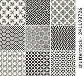 set of endless monochrome... | Shutterstock .eps vector #241198726