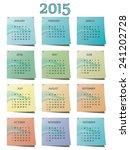 calendar for 2015 year | Shutterstock .eps vector #241202728