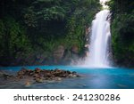 rio celeste waterfall in... | Shutterstock . vector #241230286