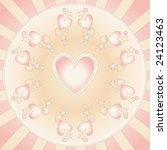 beautiful heart background | Shutterstock . vector #24123463