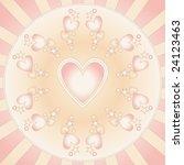 beautiful heart background | Shutterstock . vector #24123463