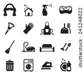maid icons  | Shutterstock .eps vector #241248022