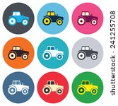 tractor sign icon. agricultural ... | Shutterstock .eps vector #241255708