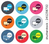 byod sign icon. bring your own... | Shutterstock .eps vector #241258732