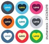 heart sign icon. love symbol....   Shutterstock .eps vector #241265698