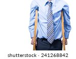 businessman on crutches ... | Shutterstock . vector #241268842