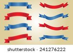 ribbon banners set.vector... | Shutterstock .eps vector #241276222
