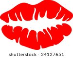 lipstick lips vector   Shutterstock .eps vector #24127651