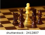 chess  white king surrounded by ... | Shutterstock . vector #2412807