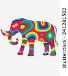 elephant abstract colorfully ...   Shutterstock .eps vector #241281502